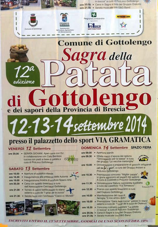 sagra della patata di Gottolengo 2014