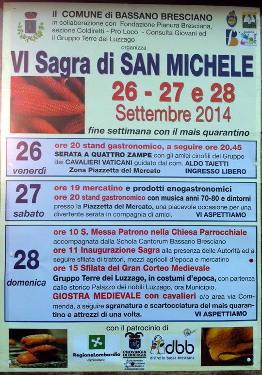 sagra di San Michele a Bassano Bresciano