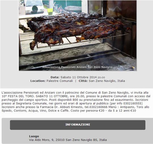 10° Festa del Toro a San Zeno Naviglio
