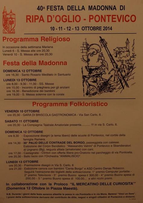 40° Festa della Madonna di Ripa d'Oglio a Pontevico