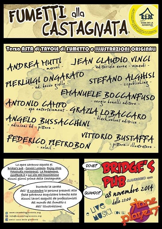 Castagnata al Bridges Pub Manerbio 2014 illustratori