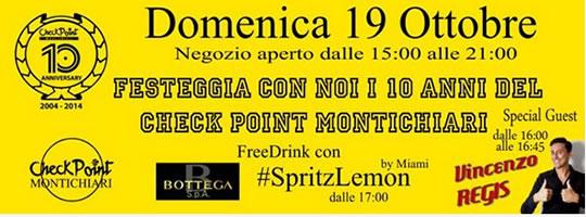 Check Point Montichiari festeggia i 10 anni con Vincenzo Regis