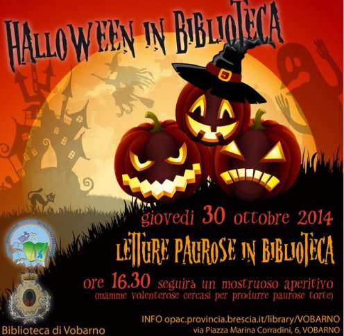 Halloween in biblioteca a Vobarno