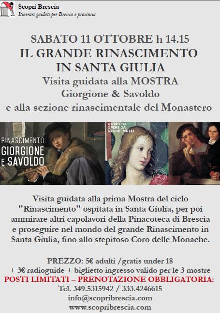 Il Grande Rinascimento in Santa Giulia con Scopri Brescia