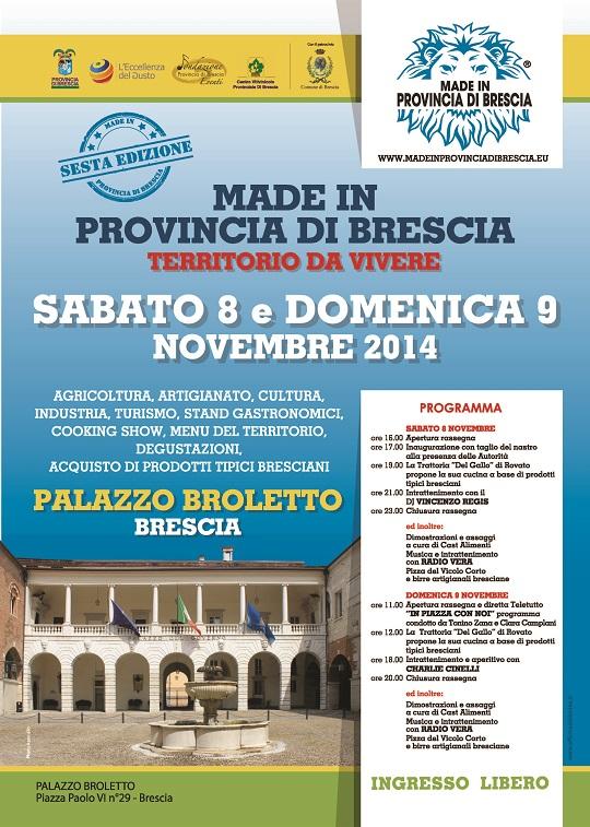 Made in Provincia Brescia Broletto 11-2014