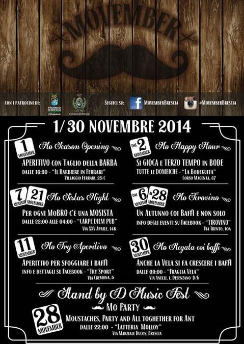 Movember Brescia 2014