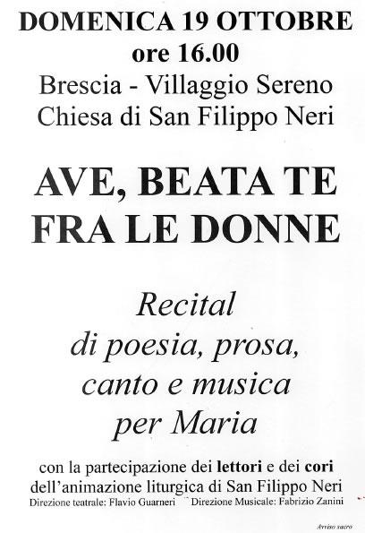 Recital di Poesia al Villaggio Sereno