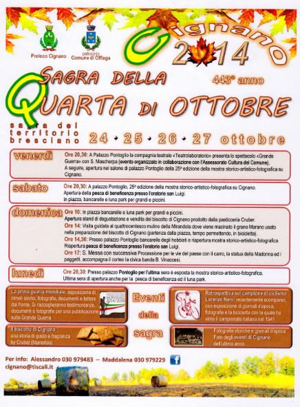 Sagra della Quarta di Ottobre a Cignano di Offlaga
