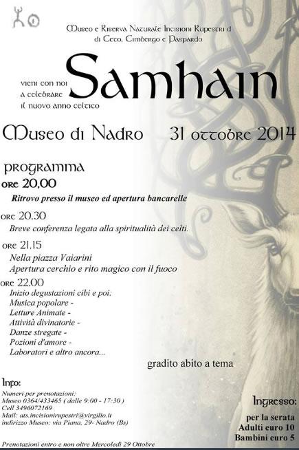 Samhrain il Capodanno Celtico a Nadro