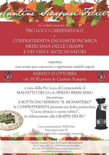 Serata Degustazione a Carpenedolo