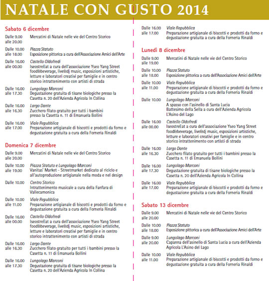 13° Natale con Gusto a Iseo