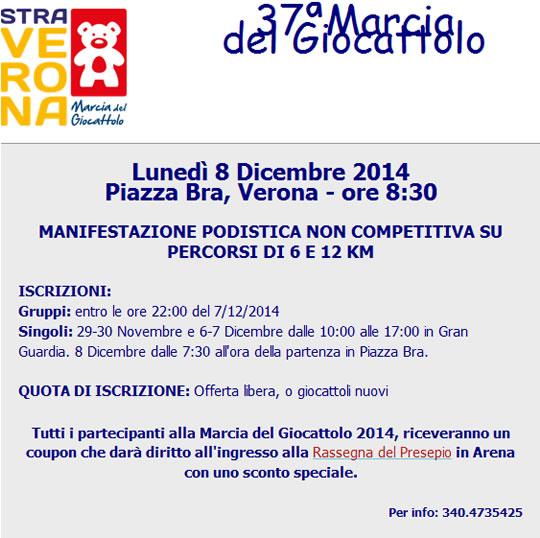 37° Marcia del Giocattolo a Verona