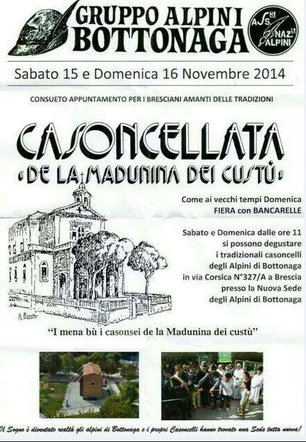 Casoncellata de la Madunina dei Custù a Brescia