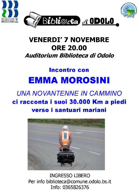 Incontro con Emma Morosini a Odolo