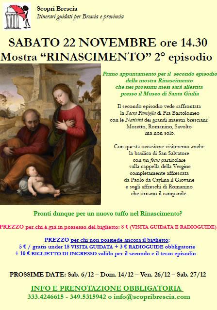 Mostra Rinascimento 2° episodio con Scopri Brescia