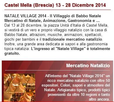 Natale Village 2014 a Castel Mella