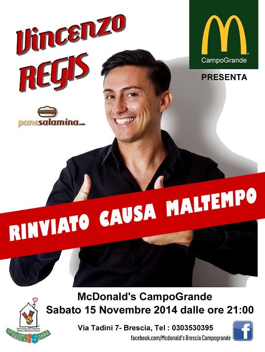 Vincenzo Regis al McDonald Brescia RINVIATO