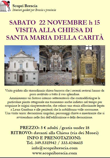 Visita Alla Chiesa di Santa Maria della Carità con Scopri Brescia