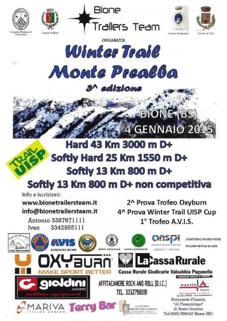 3° Winter Trail Monte Prealba a Bione