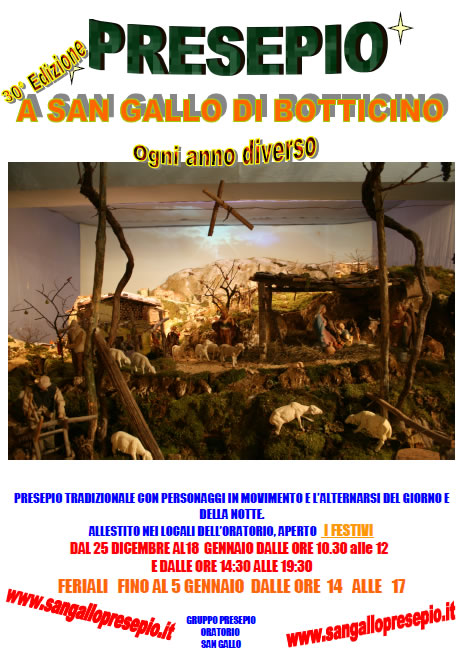30° Presepio a San Gallo di Botticino