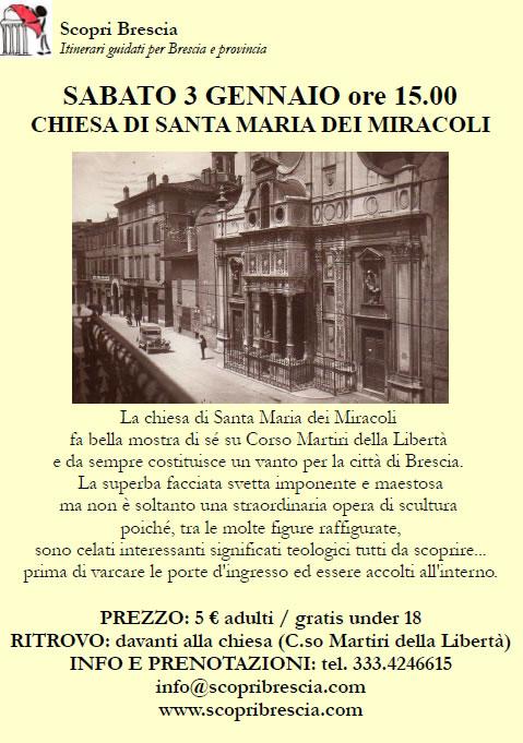 Chiesa di Santa Maria dei Miracoli con Scopri Brescia