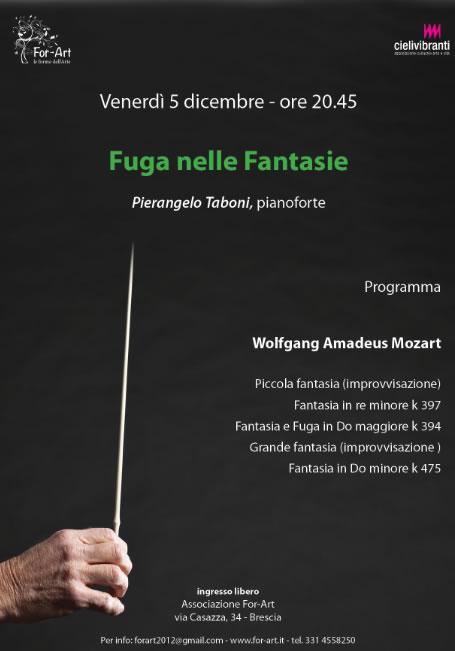 Concerto Fuga nelle Fantasie a Brescia