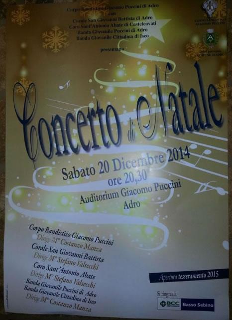 Concerto di Natale di Adro