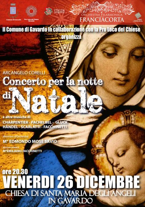 concerto per la notte di Natale a Gavardo
