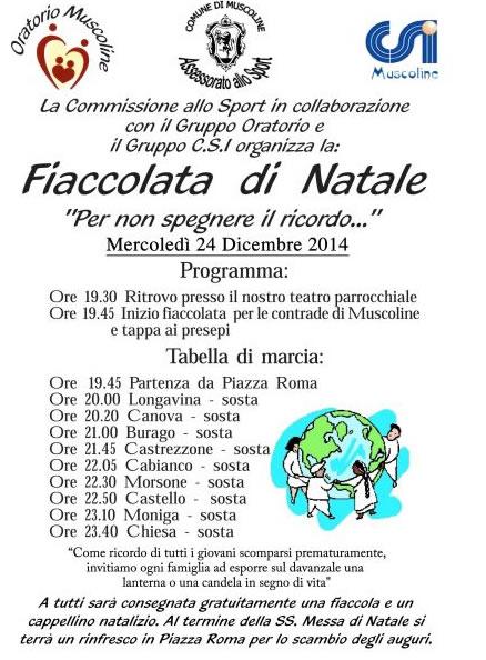 Fiaccolata di Natale a Muscoline