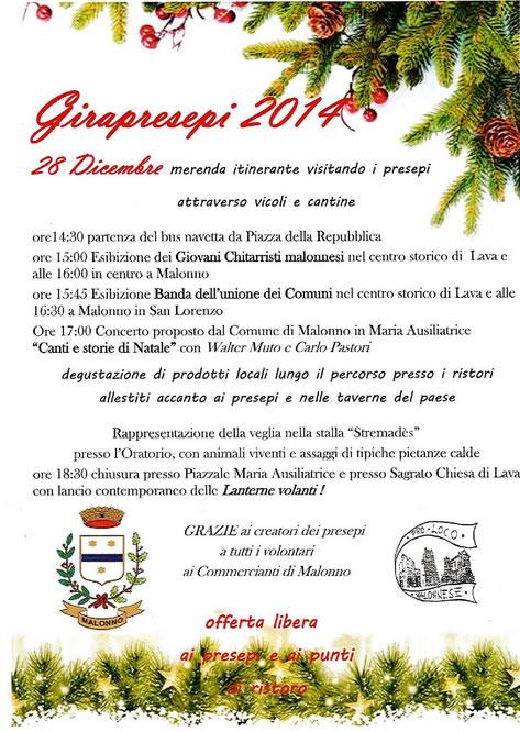 Gira Presepi 2014 a Malonno