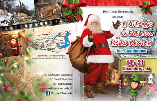 Il Villaggio e la Fabbrica di Babbo Natale a Tavernola Bergamasca