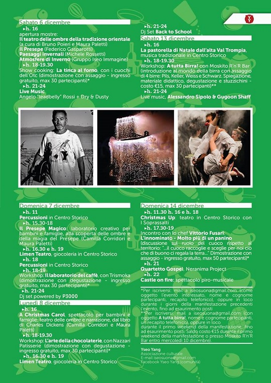 Iseo StreEat 2014 Christmas Edition Programma