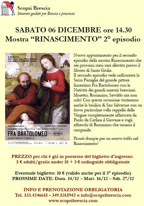 Mostra Rinascimento con Scopri Brescia