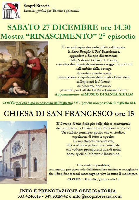 Mostra Rinascimento e Chiesa di San Francesco con Scopri Brescia