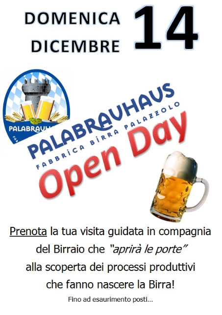 Open Day Fabbrica Birra a Palazzolo