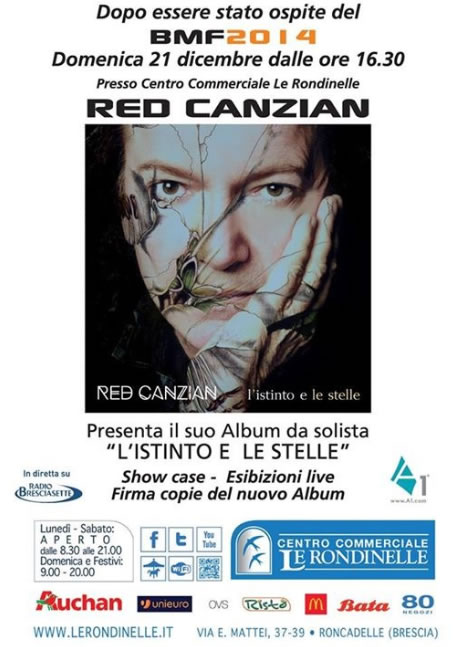 Red Canzian presenta il suo album a Roncadelle