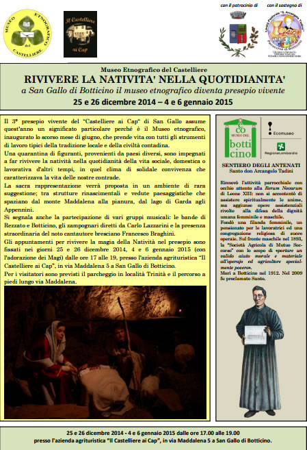 Rivivere la Natività nella Quotidianità a Botticino