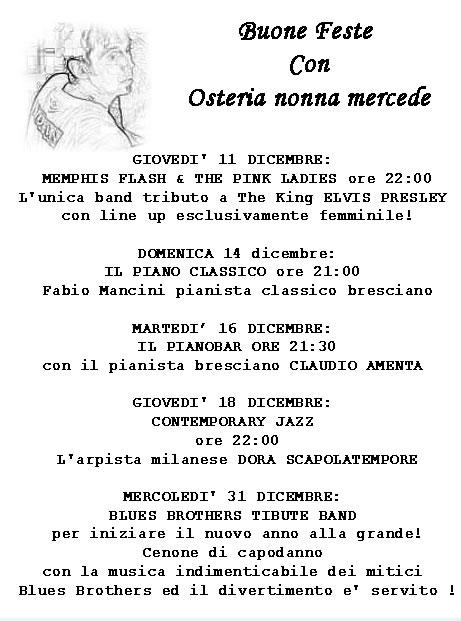 Serate Musicali all'Osteria a Brescia