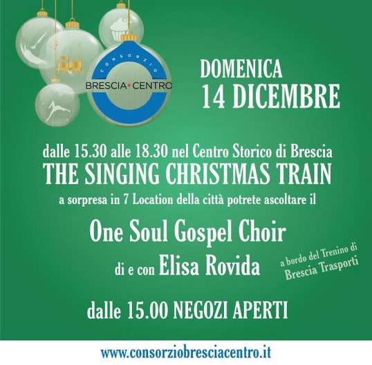 The Singing Christmas Train a Brescia