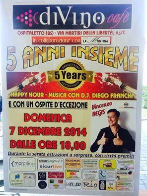 Vincenzo Regis al Divino Café Ospitaletto