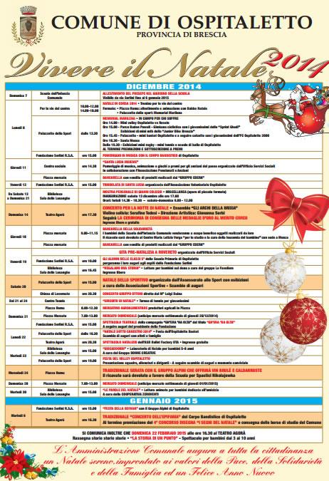 Vivere il Natale 2014 a Ospitaletto
