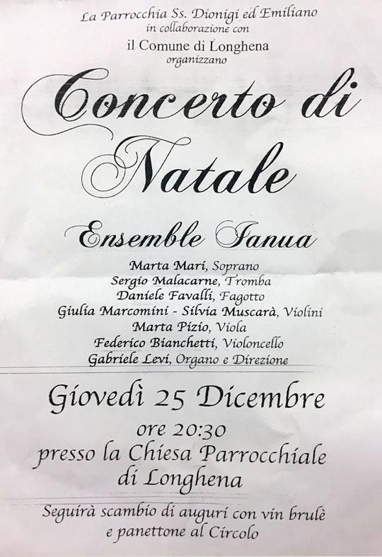 concerto di Natale a Longhena