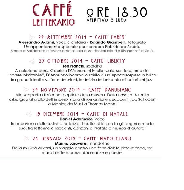Caffè Letterario 2015