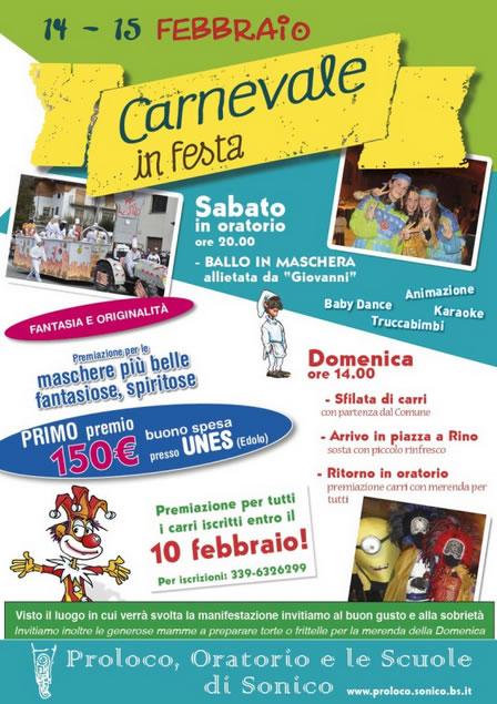 Carnevale in Festa 2015 a Sonico