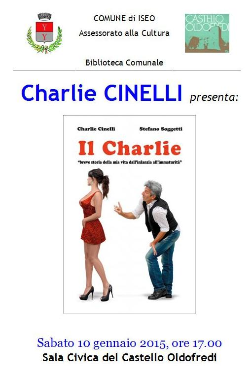 Charlie Cinelli il libro a Iseo