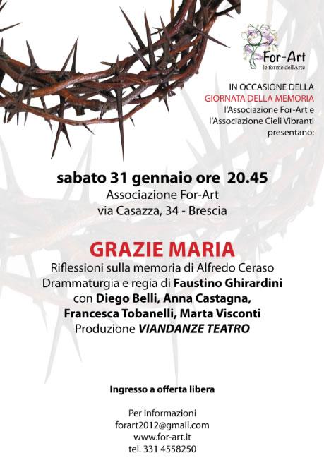 Grazie Maria x Giornata della Memoria 2015 a Brescia