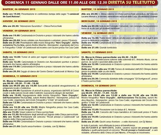 Sagra I Canusei de Sant'Antone 2015 Castelcovati