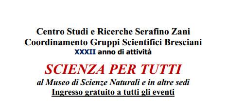 Scienza per Tutti gennaio 2015