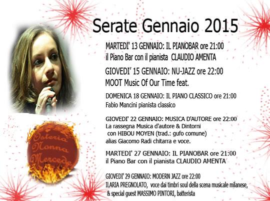 Serata Live 2015 da Nonna Mercede a Brescia