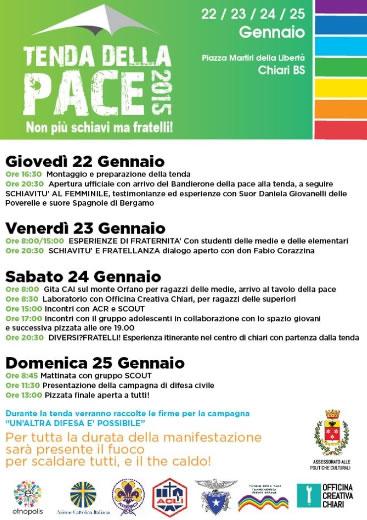 Tenda della Pace 2015 a Chiari